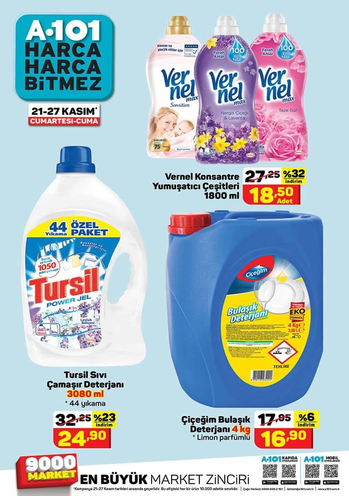 21 - 27 Kasım A101 temizlik ürünleri indirimi
