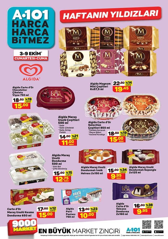 Algida dondurma fiyatları