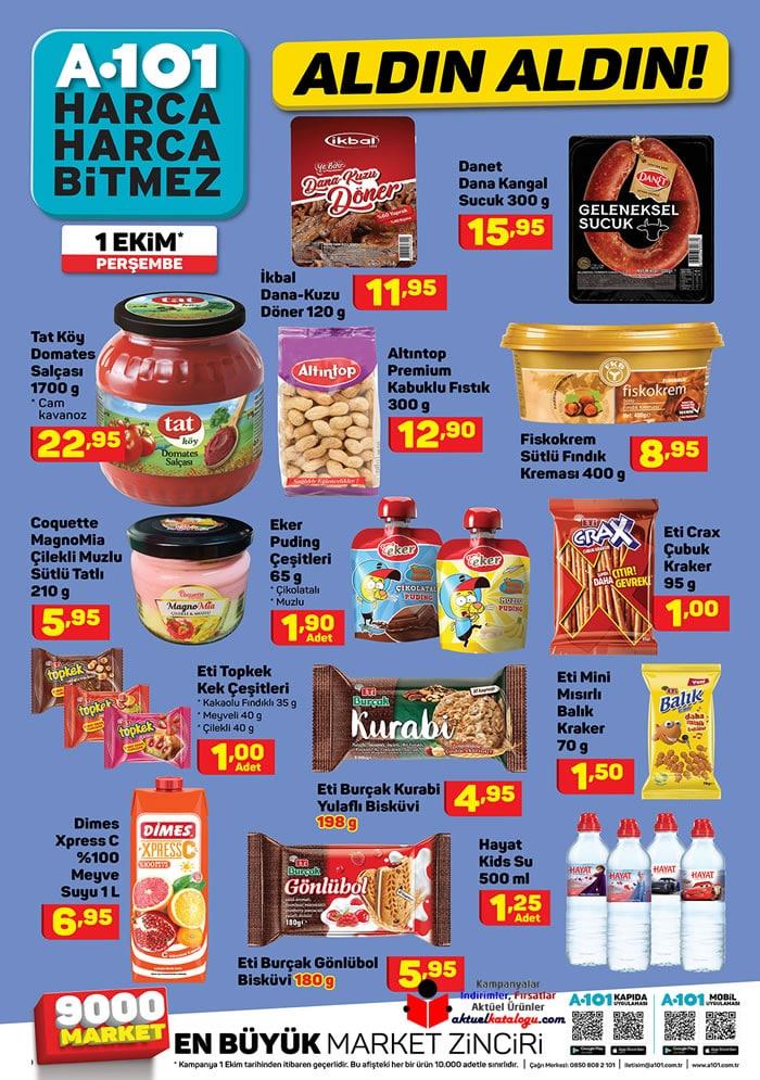 A101 1 Ekim Perşembe İndirimli Ürünler Kataloğu