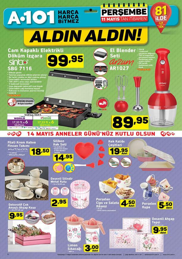 A101 11 Mayıs 2017 Katalogu - Sinbo Cam Kapaklı Elektrikli Izgara