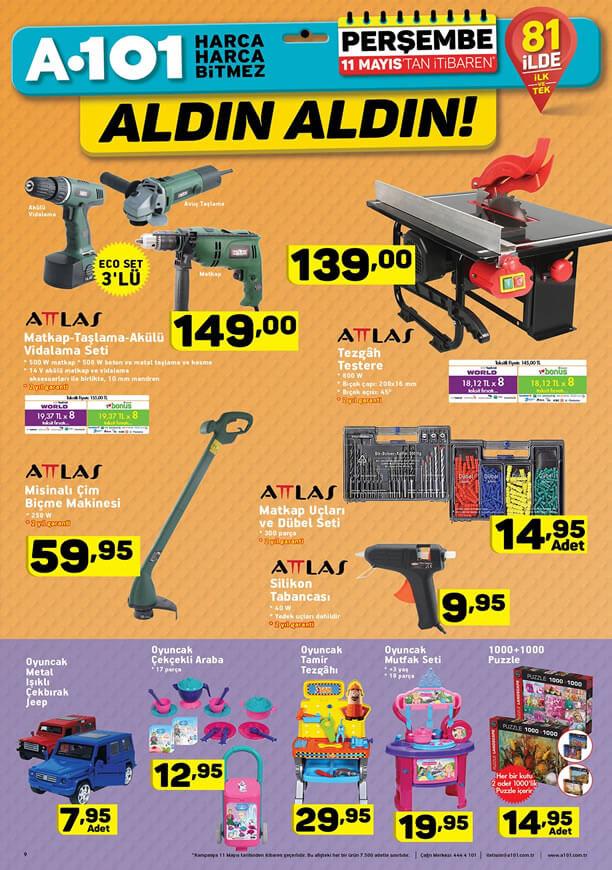 A101 11 Mayıs 2017 Katalogu - Tezgah Testere