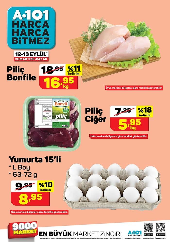 A101 12 - 13 Eylül 2020 Tavuk ve Yumurta Fiyatları