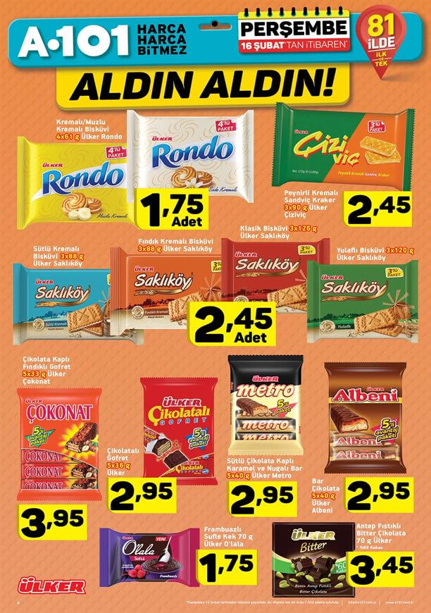 A101 16 - 23 Şubat 2017 Katalogu - Ülker Çikolata