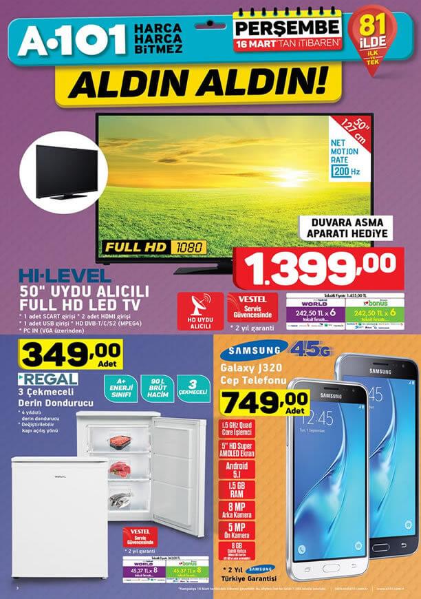A101 16 Mart 2017 - Samsung Galaxy J320 Cep Telefonu
