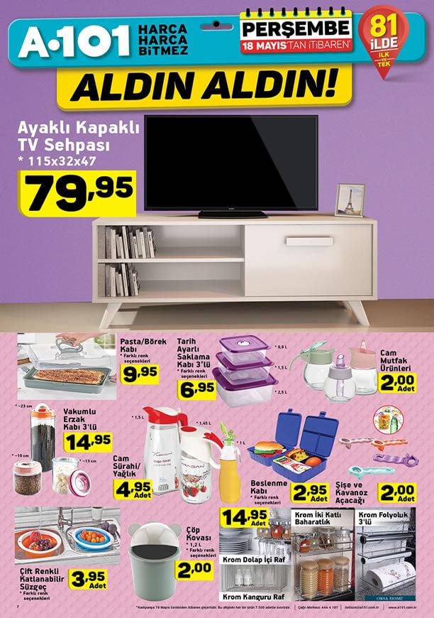 A101 18 Mayıs 2017 Katalogu - Ayaklı Kapaklı Tv Sehpası