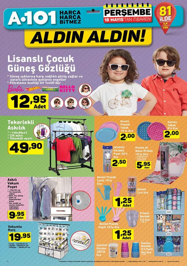 A101 18 Mayıs 2017 Katalogu - Çocuk Güneş Gözlüğü