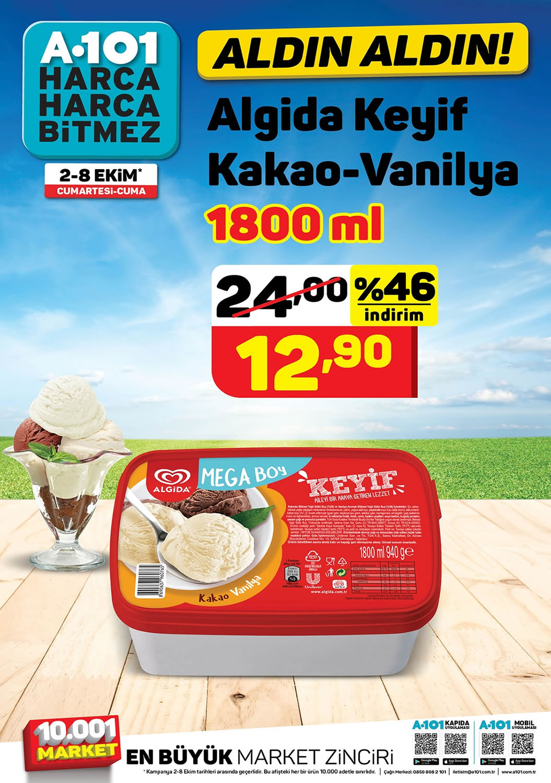 A101 2 - 8 Ekim 2021 Algida Keyif Dondurma Fiyatı