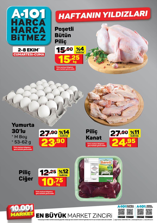 A101 2 - 8 Ekim 2021 tavuk fiyatları