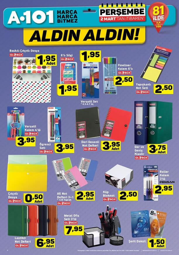 A101 2 - 9 Mart 2017 Aktüel Ürünler Katalogu - Kırtasiye Malzemeleri