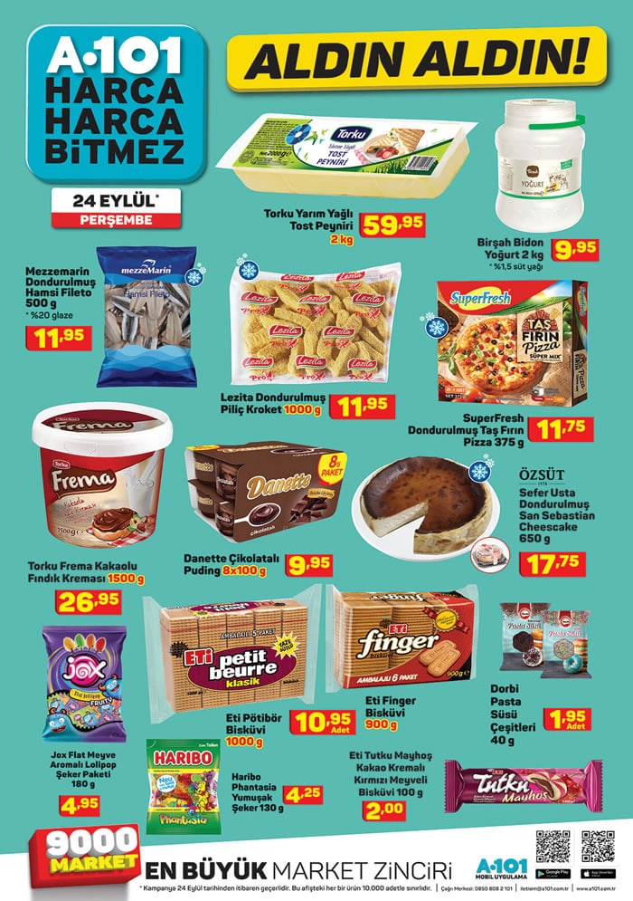 A101 24 Eylül Perşembe indirimli ürünler listesi