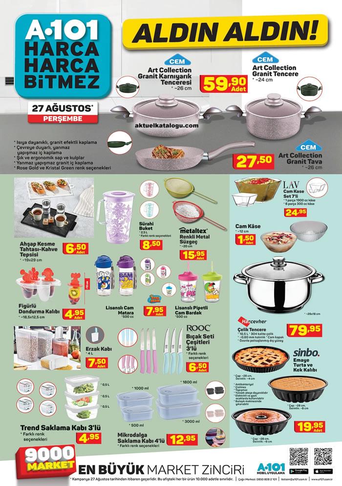 A101 27 Ağustos 2020 - Mutfak Ürünleri