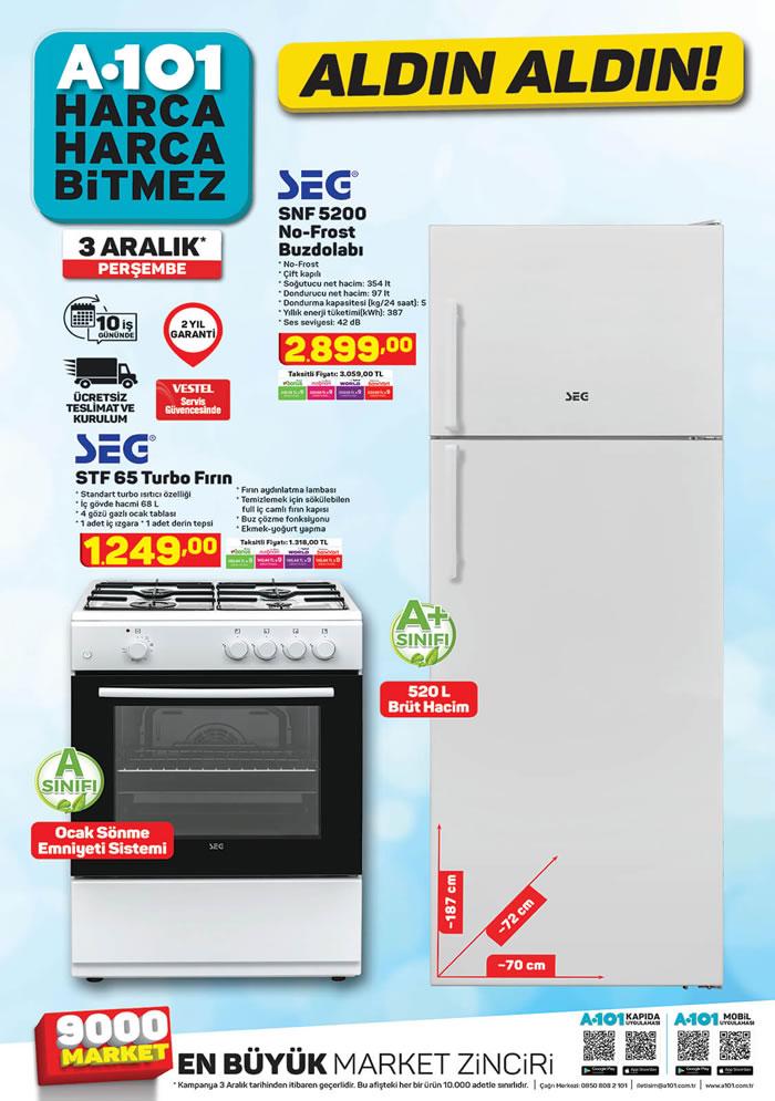 A101 3 Aralık 2020 SEG No-Frost Buzdolabı