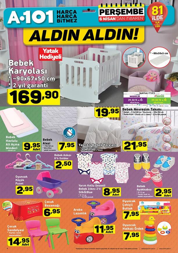 A101 Altüel 6 Nisan 2017 Katalogu - Bebek Karyolası