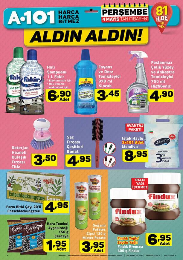 A101 Kampanyaları 4 Mayıs 2017 Katalogu - Fakir Halı Şampuanı
