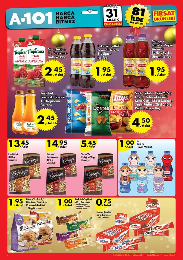 A101 Yılbaşı Ürünleri 31 Aralık 2016 Katalogu