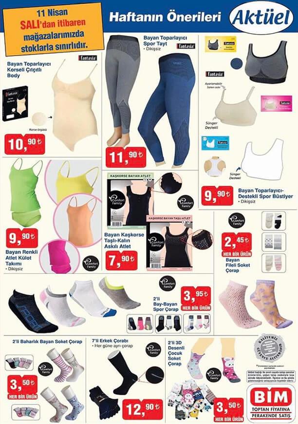 BİM 11 Nisan 2017 Aktüel Ürünler Katalogu - İç Giyim