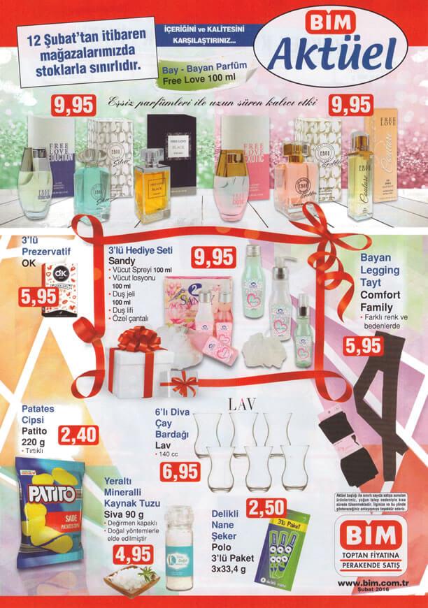 BİM 12 Şubat 2016 Sevgililer Günü Kampanyası - Free Love Parfüm