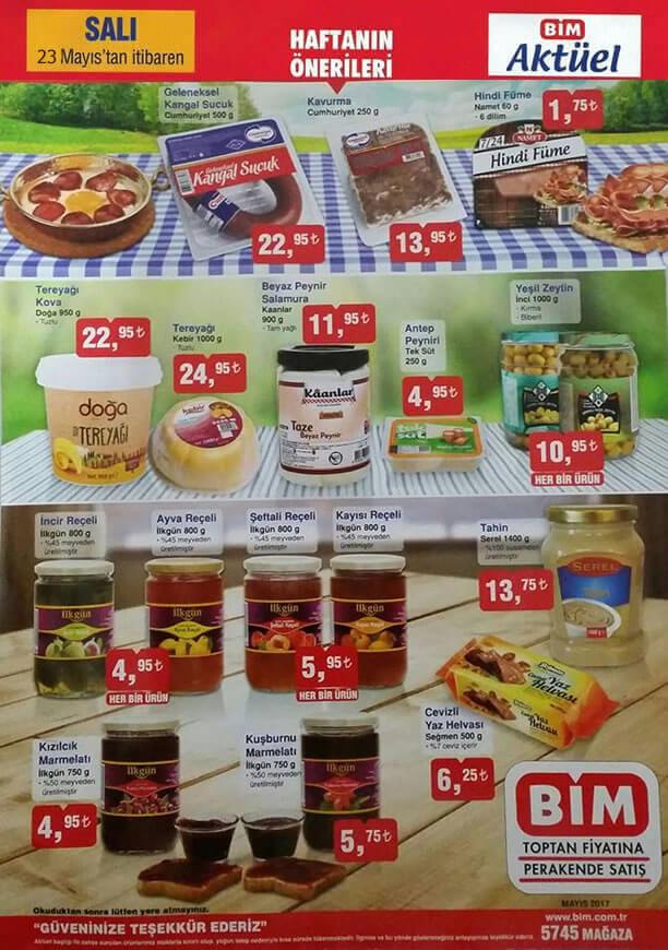 BİM 23 Mayıs 2017 Aktüel Ürünler Katalogu