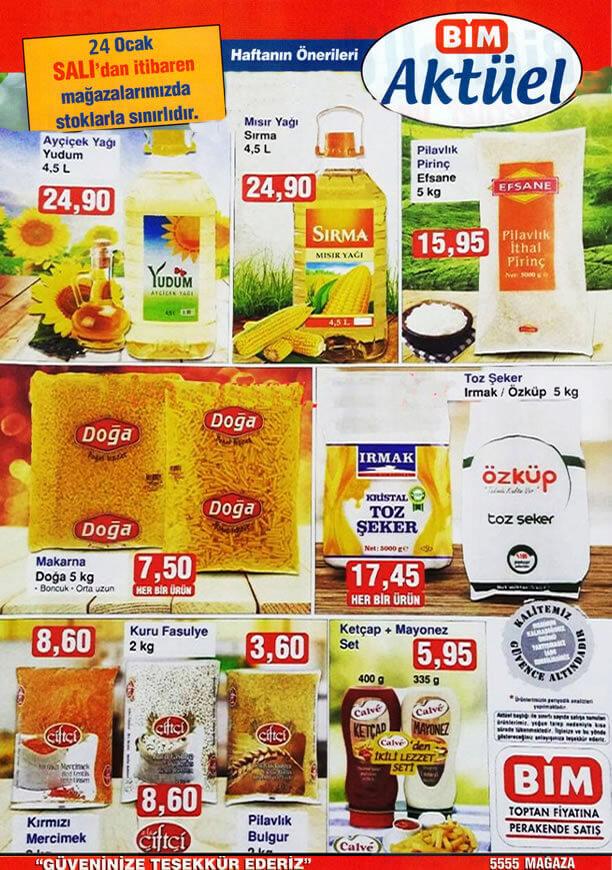 BİM 24 Ocak 2017 Aktüel Ürünler Katalogu - Yudum Ayçiçek Yağı
