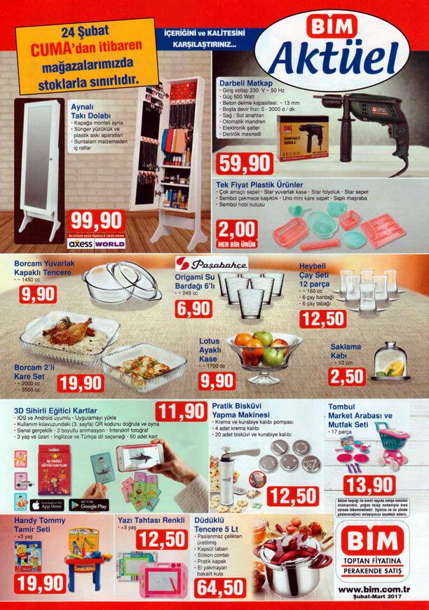 BİM 24 Şubat 2017 Katalogu - Aynalı Takı Dolabı