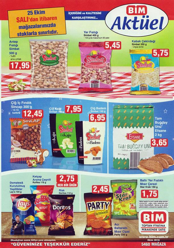 BİM 25 Ekim 2016 Aktüel Ürünler Katalogu - Simbat Antep Fıstığı