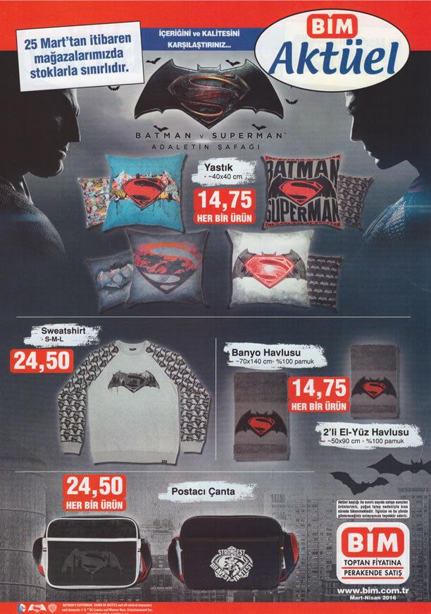 BİM 25 Mart 2016 Fırsat Ürünleri Katalogu - Batman ve Superman