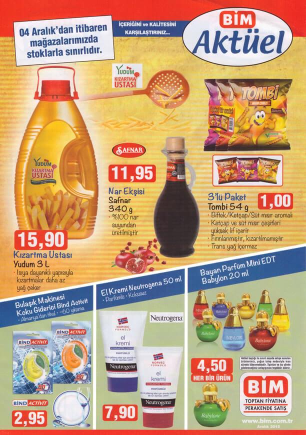 BİM 4 Aralık 2015 Fırsat Ürünleri Broşürü - Yudum Kızartma Ustası