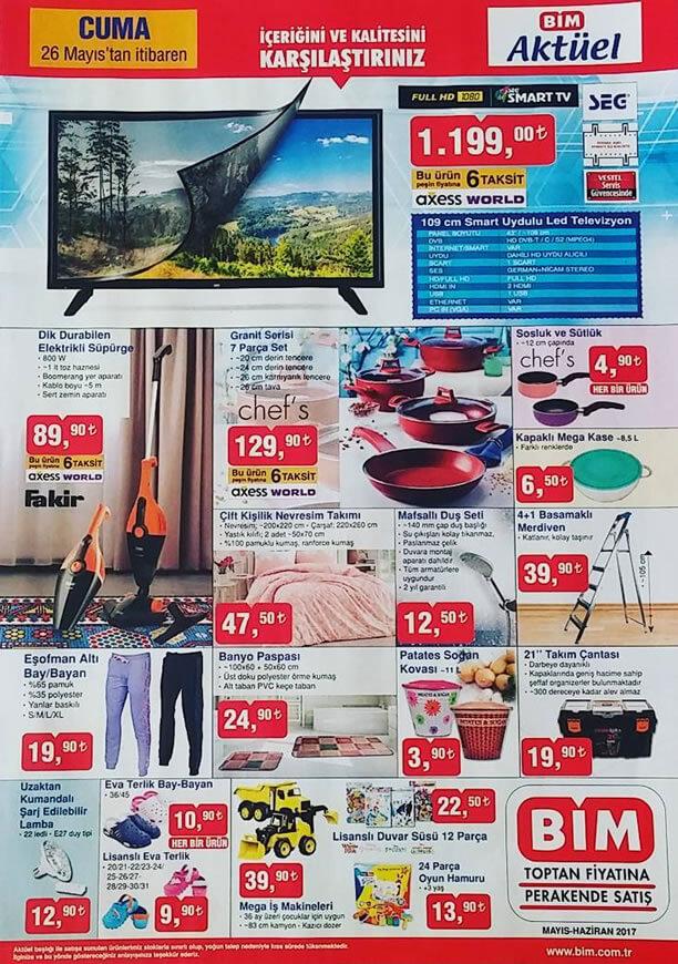 BİM Aktüel 26 Mayıs 2017 Katalogu - SEG Smart Televizyon