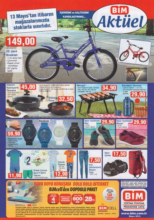 BİM Aktüel Ürünler 13 Mayıs 2016 Katalogu - 20 Jant Bisiklet