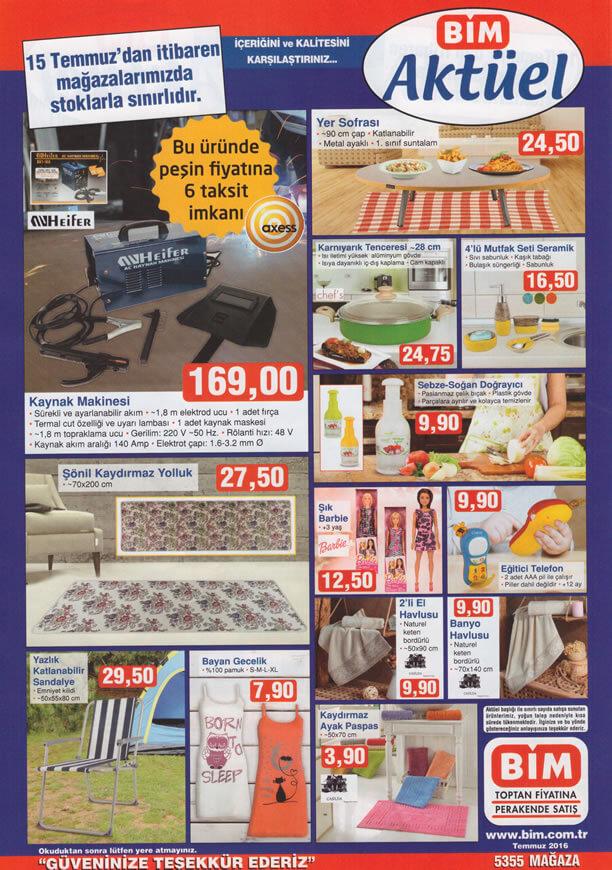 BİM Aktüel Ürünler 15 Temmuz 2016 Katalogu - Kaynak Makinesi