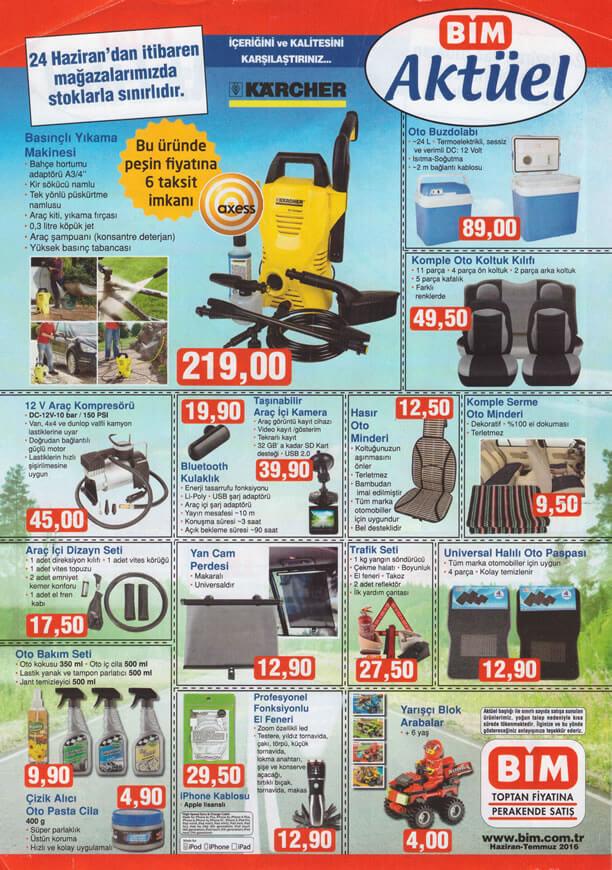 BİM Aktüel Ürünler 24 Haziran 2016 Katalogu - Oto Aksesuar