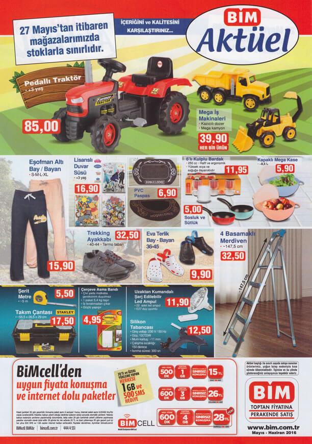 BİM Aktüel Ürünler 27 Mayıs 2016 Katalogu - Pedallı Traktör