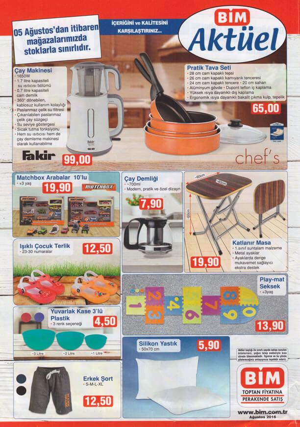 BİM Aktüel Ürünler 5 Ağustos 2016 Katalogu - Fakir Çay Makinesi
