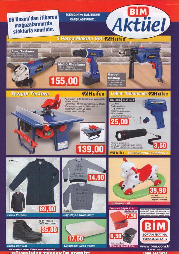 BİM Aktüel Ürünler 6 Kasım 2015 Broşürü - Heifer