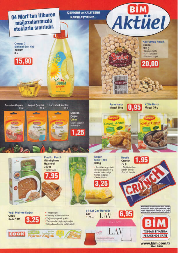 BİM Fırsat Ürünleri 04.03.2016 Cuma Katalogu - Yudum Omega 3