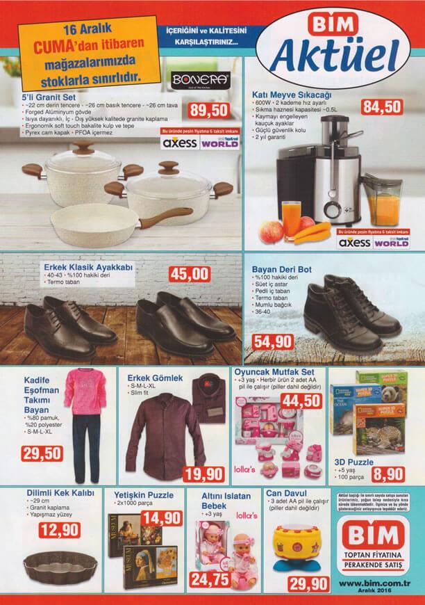 BİM Fırsat Ürünleri 16 Aralık 2016 Katalogu - Katı Meyve Sıkacağı