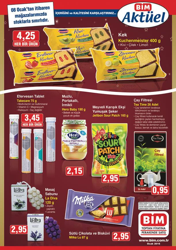 BİM Fırsat Ürünleri 8 Ocak 2016 Broşürü - La Diva Masaj Sabunu