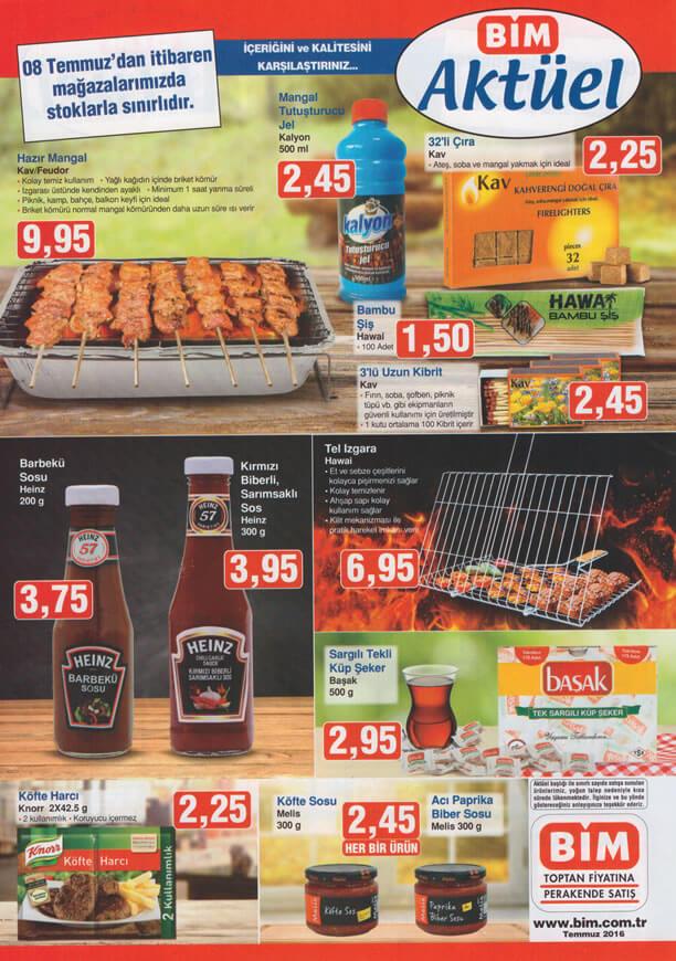 BİM Fırsat Ürünleri 8 Temmuz 2016 Katalogu - Hazır Mangal
