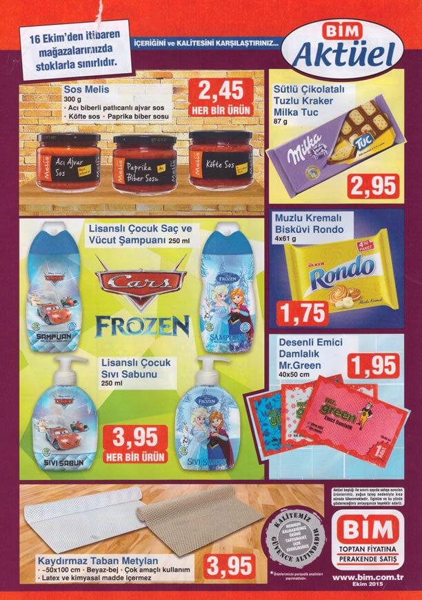 BİM İndirimleri 16 Ekim 2015 Fırsat Ürünleri Broşürü