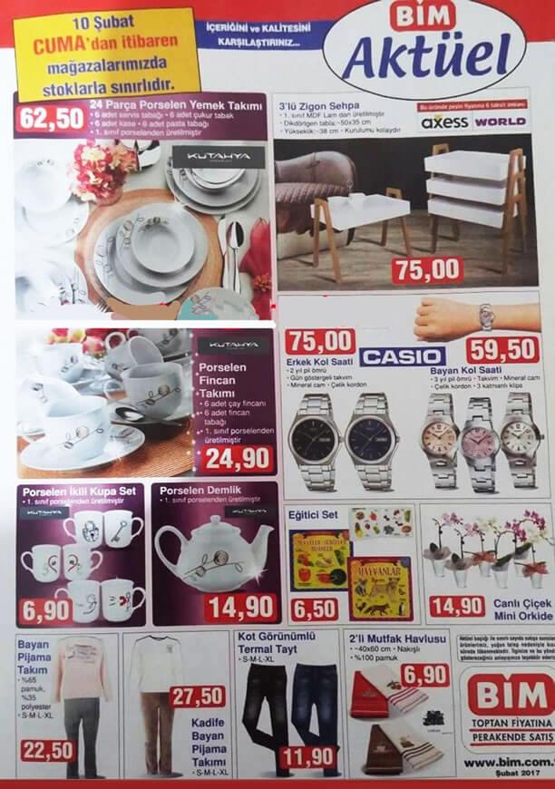 BİM Market 10 Şubat 2017 Katalogu - Casio Kol Saati