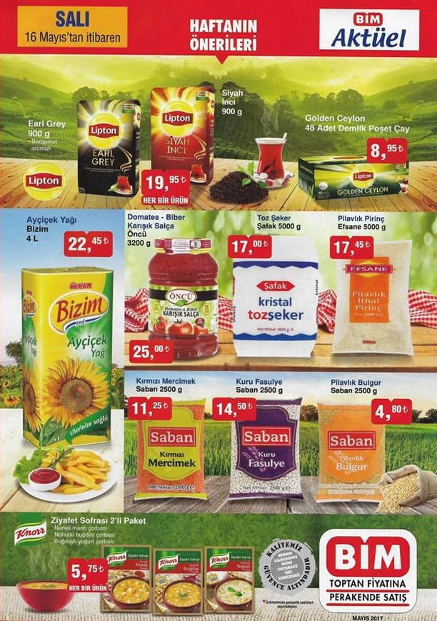 BİM Market 16 Mayıs 2017 Salı Katalogu - Lipton Çay