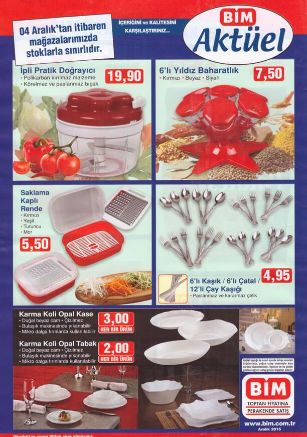BİM Market 4-10 Aralık 2015 Broşürü - İpli Pratik Doğrayıcı