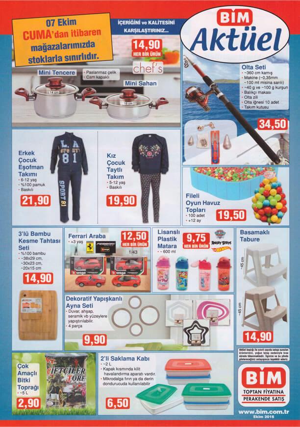 BİM Market 7 Ekim 2016 Katalogu - Olta Seti