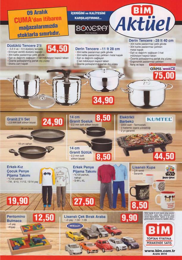 BİM Market 9 Aralık 2016 Katalogu - Düdüklü Tencere