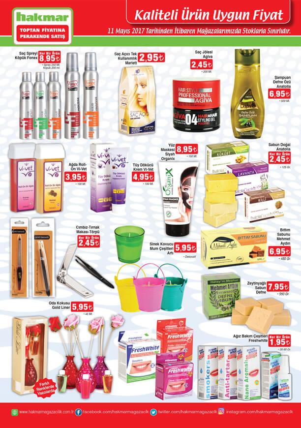HAKMAR 11 Mayıs 2017 Katalogu - Kozmetik Ürünleri