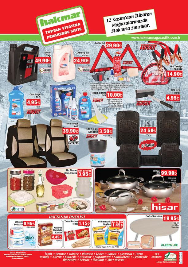 HAKMAR 12 - 18 Kasım 2015 Aktüel Ürünler Broşürü - Oto Ürünleri