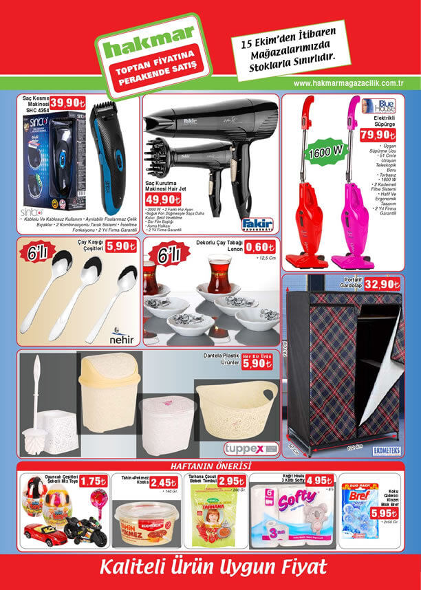 HAKMAR 15 Ekim 2015 Aktüel Ürünler Katalogu - Saç Kesme Makinesi