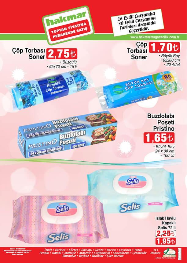HAKMAR 16-30 Eylül 2015 Aktüel Ürünler Broşürü - Islak Havlu