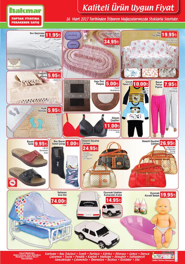 HAKMAR 16 Mart 2017 Fırsat Ürünleri