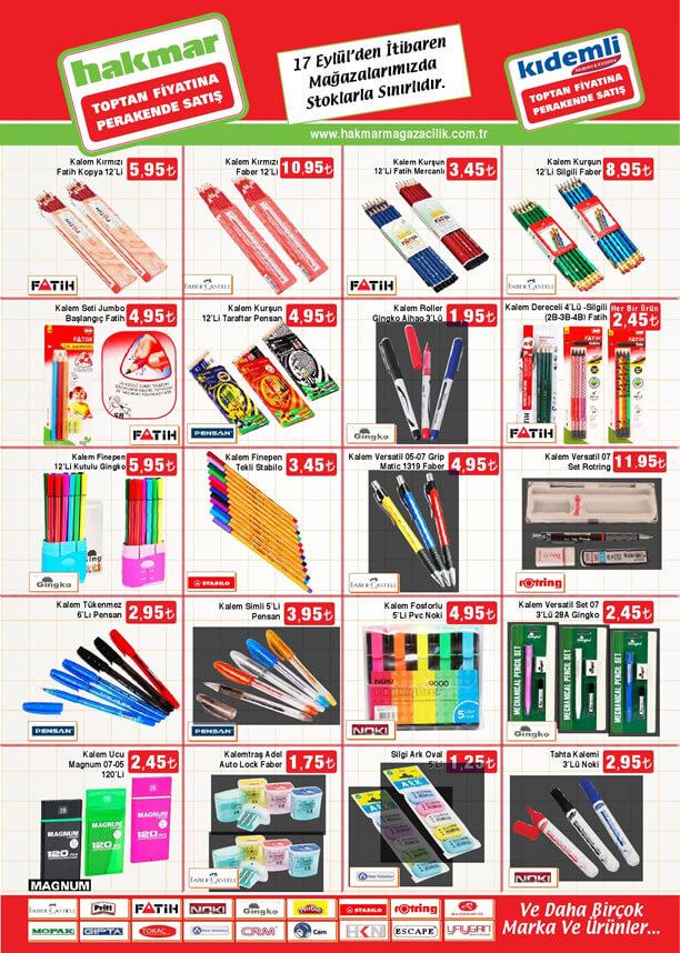 HAKMAR 17.09.2015 Aktüel Ürünler Katalogu - Okul Eşyaları